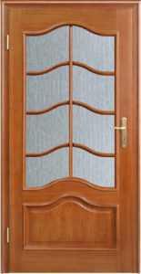 DEWRO drzwi jasne półszyba fala -krata