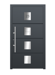 drzwi szare euroa model 1011