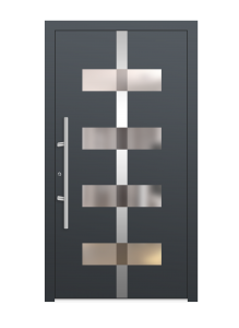 drzwi szare euroa model 3012