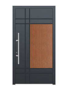 drzwi szare euroa model 4016