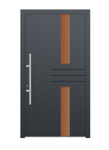 drzwi szare euroa model 4017
