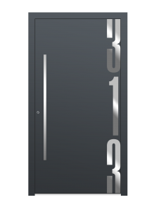 drzwi szare euroa model 5012
