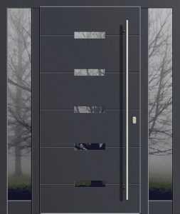 drzwi zewnętrzne czarne
